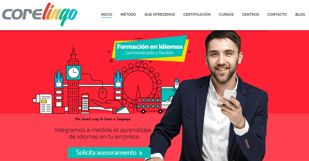 Core Lingo renueva su imagen web