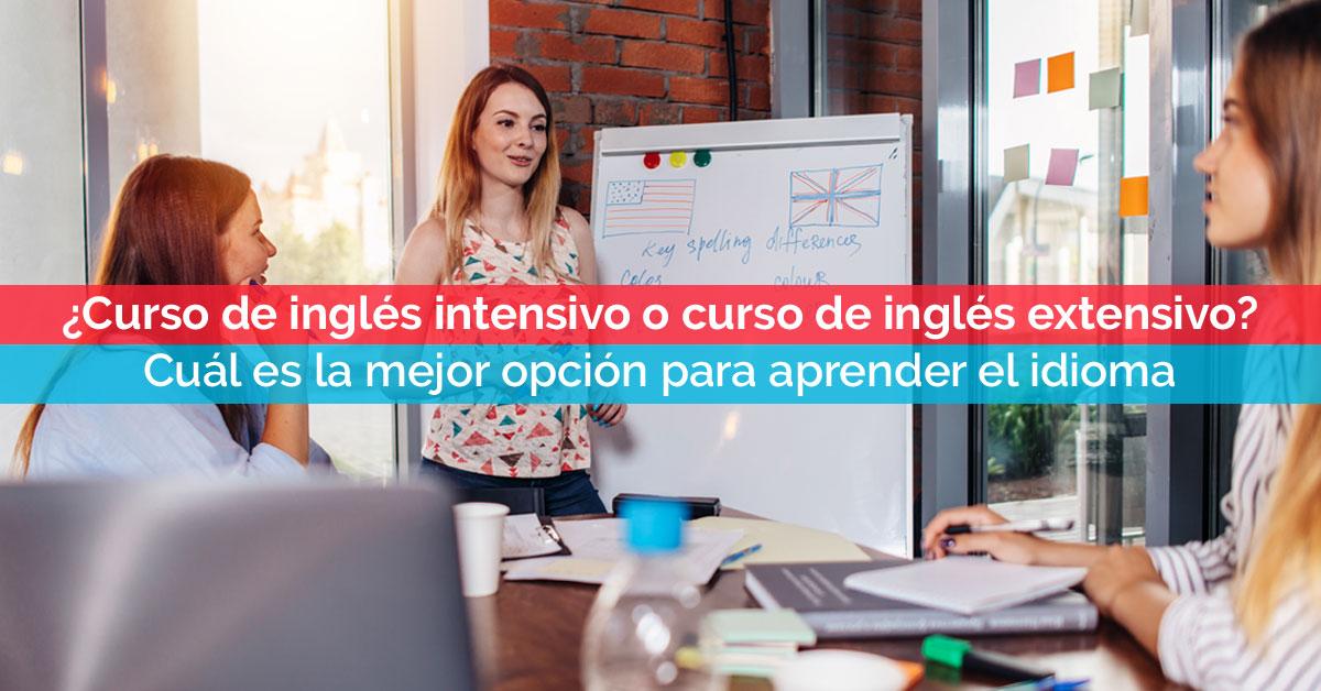 ¿Curso de inglés intensivo o curso de inglés extensivo? | Corelingo