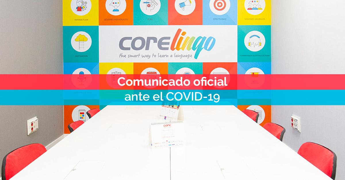Comunicado oficial ante el COVID-19