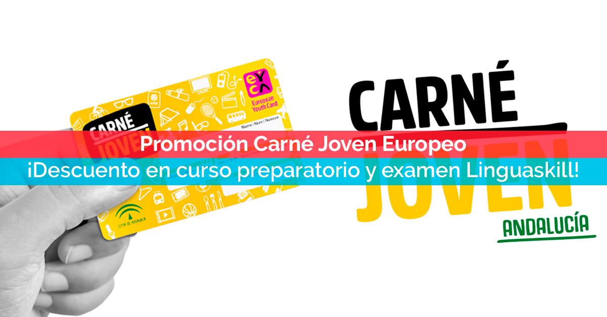Promoción Carné Joven Europeo: ¡descuento en tu curso preparatorio y examen Linguaskill! | Corelingo, cursos de inglés en Sevilla y Madrid
