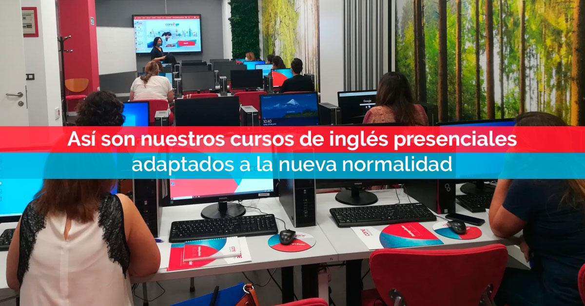 Así son nuestros cursos de inglés presenciales adaptados a la nueva normalidad | Corelingo
